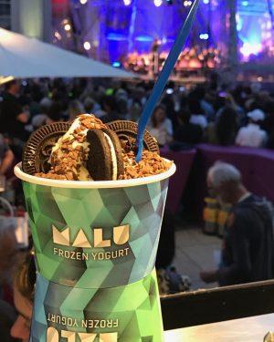 Gestern Abend war es bei uns so. MALU FROYO & Wiener Symphoniker #malufroyo #frozenyogurt #froyo #museumsquartier #wien...