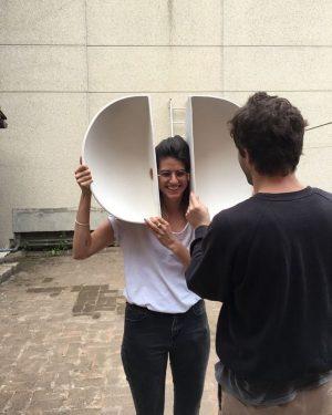 "Laura wearing Alessandro! ""Cicoria"", soon in Vienna at Vin Vin @ @_ruyter studio @alessandrocicoria @morgenstern #alessandrocicoria #cicoria..."