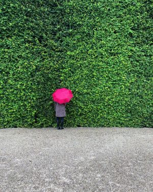 -Woman with red umbrella-