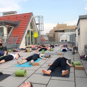 happy feet happy heart :-) savasana, final relaxation, today on our rooftop terrace . birds singing, a...