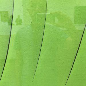Con Lucio Fontana in verde. Thank you Heidi Horten #selfienation #art #vienna
