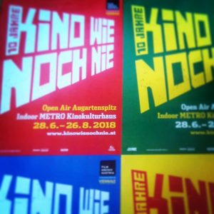 10 Jahre Kino wie noch nie! 28.6. - 26.8.2018. Programm: www.kinowienochnie.at #60nights #sommerkino #augarten #summercinema #openair #viennale...