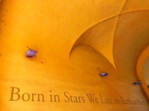 Born in stars we live on earth as poets