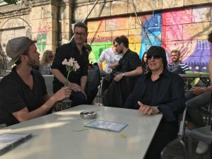 Uwex mit Gottfried #Helnwein #donaukanal