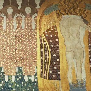 Gustav Klimt Beethoven Frieze 1901 Secession Vienna グスタフ・クリムト ベートーヴェン・フリーズ ウィーン分離派会館 20171230 #gustavklimt #klimt ...