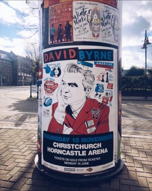..rolling past the Arts.Centre & eye.spied a gig poster for #davidbyrne in CHC in NOV.. If I...