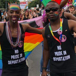 No Pride in deportation. regenbogenparade #pride #viennapride. #afrorainbowvienna Regenbogenparade