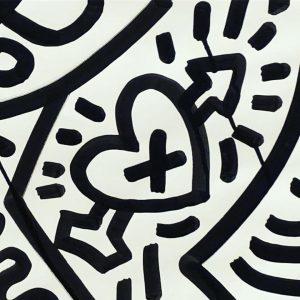 Keith Haring - einer deiner Helden. Wie gerne hätte ich mir diese Ausstellung mit dir angesehen. #keithharing...