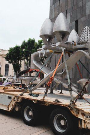 #Byebye: heute verlassen die Außenskulpturen