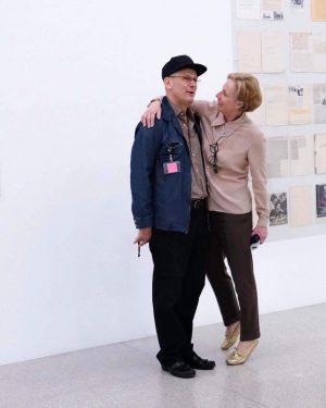 Karola Kraus und Josef Dabernig in der von erm gestalteten Ausstellung #FilmUndMehr. Eröffnung ist heute um 19...
