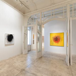 ❤️💛🖤Otto Piene - Selected Works 1957 - 2014 on view until August 3,2018 #ottopiene #contemporaryart #paintings #color...