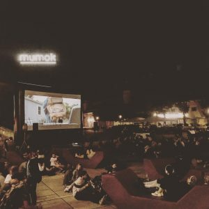 Frame[o]ut last night. Open air cinema every week until 1st September! Free entry (of course!) . ....