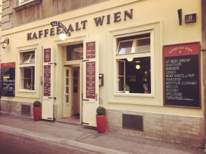 Time for a Viennese Einspänner - double espresso with cream ☕️ @kaffeealtwien to ...