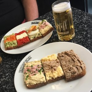 World's greatest little sandwiches with perhaps the world's smallest beer