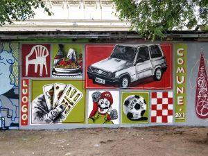 Yppenplatz, 1160 Artist (center): @luogo_comune_ www.viennamurals.at Blog / Online Map / Book #mural #murals #viennamurals #streetartguidevienna #streetart...