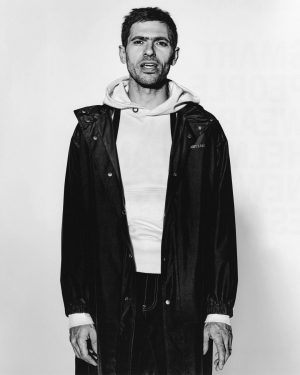 Designer Max Lamb photographed by Richard Burbridge, styled by Sara Moonves. Lamb wears Helmut Lang x Parley...