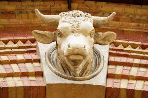 Ein Detail am Dienstag: Der Stierkopf 🐃 Er überwacht seit jeher von seiner Position über dem Eingang...