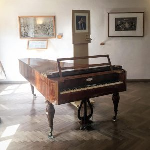 The piano is 19th century at the Franz Schubert house in Vienna. One ...