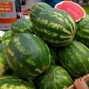 Melonen. Viele Melonen. Große Melonen. 🍉🍉🍉 Brunnenmarkt