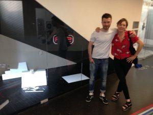 ASIFAKEIL; Nikita Diakur and Martha Colburn in front of Nikita's exhibition