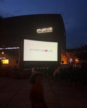 last @frameout_festival weekend open air cinema - one of a kind #MQmovesYOU . ...