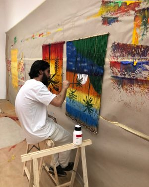 Our gallery turned into an artist studio over the summer ! We love ...