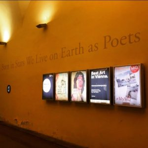 #vienna #dahoam #home #nightwalks #museumsquartier #culturalquarter #meteoritenpassage #art #poetry #williamblake #quote
