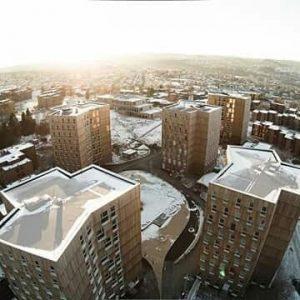 Moholt 50I50 - Timber Towers von MDH Arkitekter SA ist ein Shortlist Projekt «Peripherie» des Mies van...