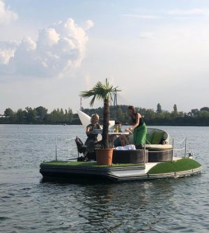 If you are looking for us today, you can find us in Vienna's Danube river riding this...