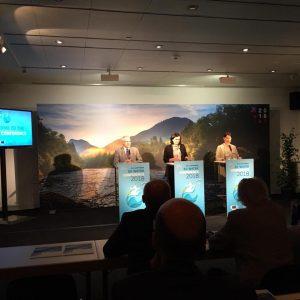 """Live von der Pressekonferenz zur großen EU-Wasserkonferenz im Wiener Museumsquartier. """"Wasser ist unser großer Schatz, den wir..."""