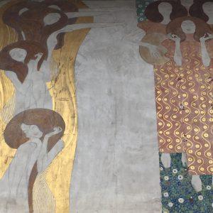 Lovely Klimt murals