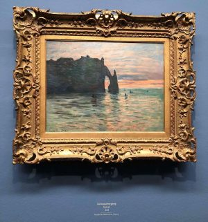Sonnenuntergang, 1883 #albertinamonet #albertina #wien #exhibition #impressionism #claudemonet #monet #sonnenuntergang #sunset #etretat #france #beauty #nature