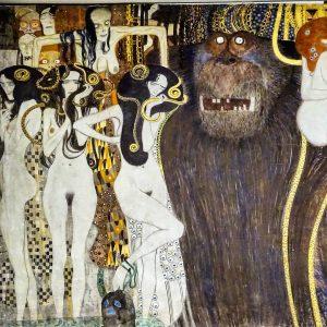 Austria Vienna Secession Beethovenfries Gustav Klimt 1902 ⭐Typhoeus und Gorgonen⭐ #austria #österreich #австрия ...