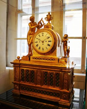 You can listen to the little piece of music that Mozart composed for this clock at the...