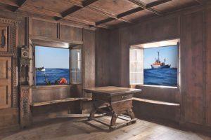"""""""Die Küsten Österreichs"""" - eine Video-Installation im Volkskundemuseum Wien lockt mit Kunstobjekten, die ..."""