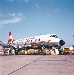 Our first aircraft were Vickers Viscount 779s and our first international flight was to London. Do you...