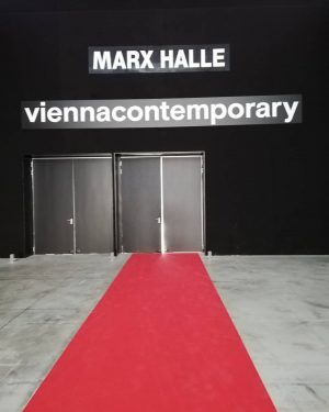Doors will be open for a moment :) Please visit as at the booth E 11 #viennacontemporary...