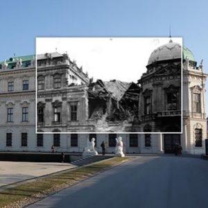 Kriegsschäden am Schloss Belvedere, 1945.  Bildquelle: ÖNB @belvederemuseum #wien #vienna #zeitensprünge #austria #österreich #welovevienna #vienna_austria #igersaustria #igersvienna #viennanow #tourism #beautiful #discoveraustria #wien_love #wonderlustvienna #planetdiscovery #lovelyvienna #beautifulvienna #ilovevienna #theprettycity #letsgotovienna #vienna_go #viennagoforit #meinbunteswien #viennacity #belvedere #schlossbelvedere