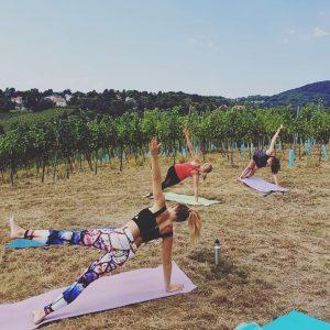 Meine neue Lieblingseventreihe in diesem Sommer ☺️ Daydrinking & Yoga beim Mayer Nussberg mit Hammerausblick 🧘♀️🍷👌 *...