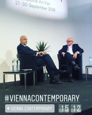 Gerald Matt spricht im Auftrag von @w24_tv und #R9TV mit der Wiener Galerie ...