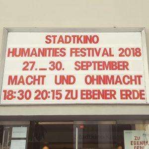 Heute zweiter Tag Vienna Humanities Festival im @stadtkinowien Großartiger Start mit einem Gespräch zwischen Konrad Paul Liessmann...