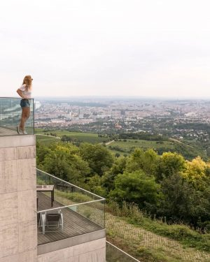 Hiking & View [Vienna] . Nach einer kleinen Wanderung durch die Wiener Weinberge kommt man oben am...