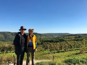 Hats & hay on a sunny day, thx for the great 🎩 Prof. Holzbauer #countryside #wineyard #ontour...