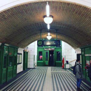 Старое метро Вены - это космос Josefstädter Straße