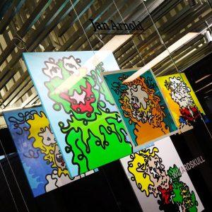 Artist in Residence @artis.love @janarnoldgallery presents @wizardskull #screenprint #art #urbanart #streetart #popart #affordableart #contemporaryart #silkscreen #Sony #RX10M4...