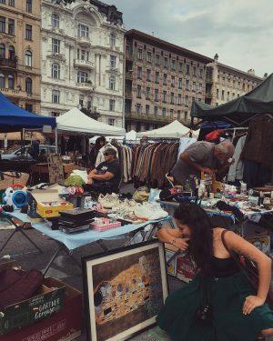 Einen echten Klimt am Flohmarkt gefunden ✨ #luckyday Flohmarkt am Naschmarkt