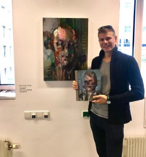 """Parallel Vienna 2018 Kunst von Justine Otto - """"Funker"""" #favorite #painting #fanart #parallelvienna ..."""
