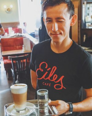 When we see you entering Eiles with a tired face...we've got your back😉☕ #morecoffee #enjoyeiles #smiles #coffeeart...