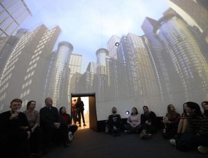 #fuckreality @varnaipeter #dome #3D #immersion #city #building #angewandte #digitalekunst @kunstraum_niederoesterreich unstraum Kunstraum Niederoesterreich
