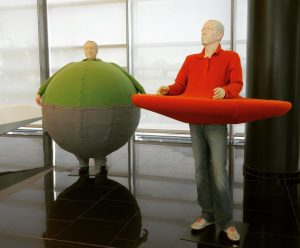 "Just installed the works by Erwin Wurm at our STRABAG building in Bratislava ""The artist who swallowed..."
